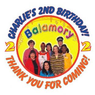 Personalised Balamory Party Stickers